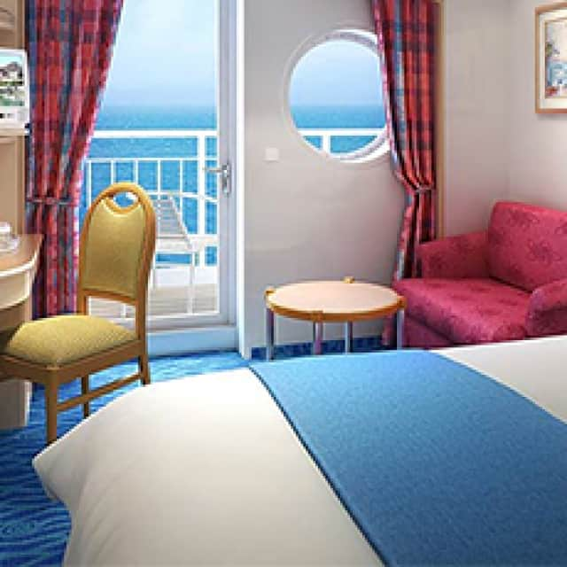 Aft Facing Balcony Stateroom
